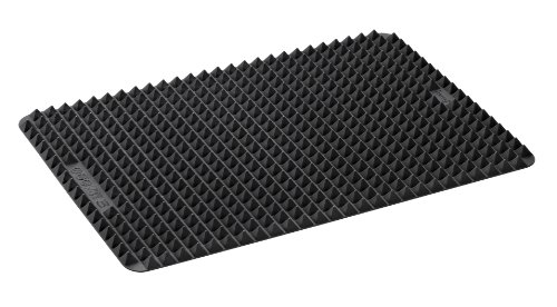 Lurch 85040 FlexiForm Fett-Trenn-Matte aus 100% BPA-freiem Platin Silikon 41 x 29 cm, schwarz