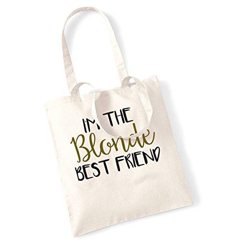 I'm the blonde best friend tote bag