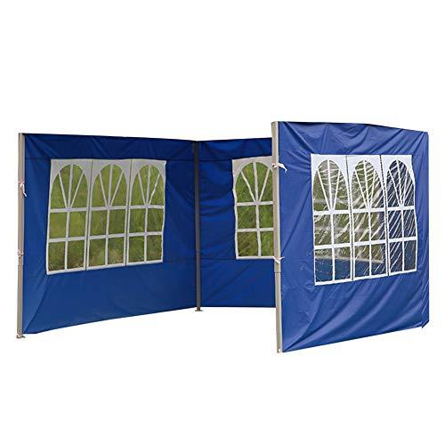 POHOVE Carpa de jardín Gazebo Carpa con Paneles de Lluvia y Viento, Accesorios de Carpa para Exteriores, Reemplazo de Tela Oxford Impermeable Anti UV, 3 * 3 m