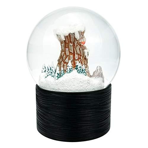 NOBLO Bola de cristal de resina caja de música volcán iluminación bola de nieve adornos producción de vidrio resina bola de agua