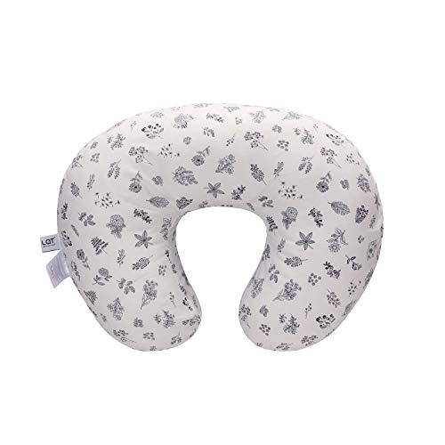 Funda de almohada para lactancia, 100% algodón natural, extra suave(Blanco)