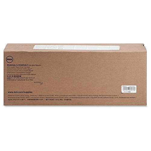 Genuine Original Dell B5460dn B5465dnf Toner Cartridge , Standard Capacity 6000 Page Yield , Dell P/N : T6J1J , GDFKW , 593-11187