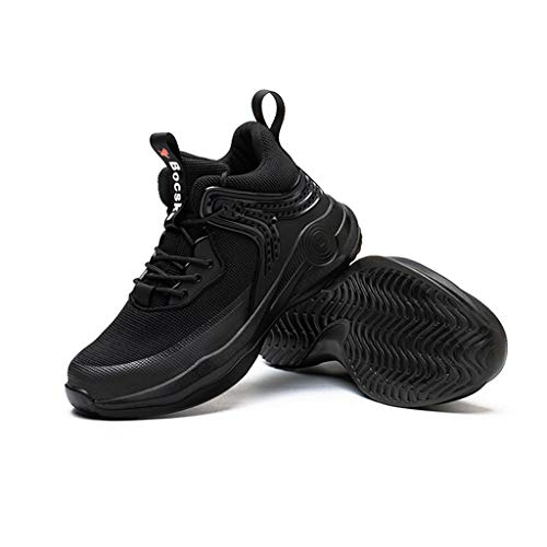 WggWy Zapatos con Punta De Acero para Hombres Y Mujeres, Zapatos De Seguridad En El Trabajo Ligeros E Indestructibles, Zapatos Deportivos Industriales Transpirables De Material Compuesto,Negro,39