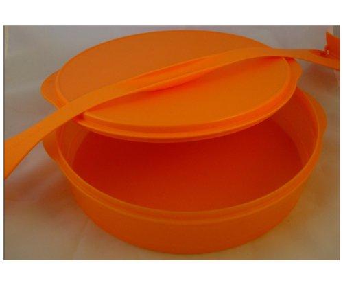 Tupperware Junge Welle Tortenbehälter Kuchenbehälter mit Griff orange