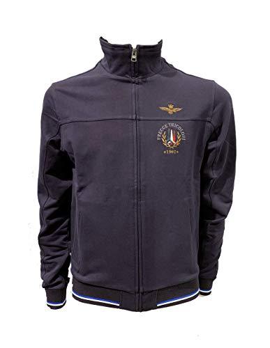 Aeronautica Military Sweatshirt FE1353 Blau Herren Pullover, FE1353-08184, Blau, FE1353-08184 M