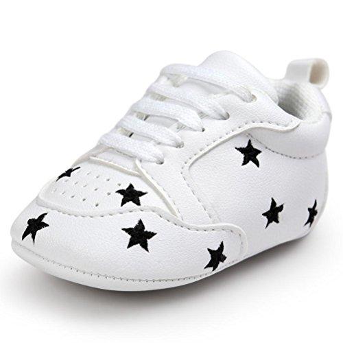 Babyschuhe Longra Baby Mädchen Jungen Stickerei Liebe Form Verband weichen Sohle Schuhe Sneakers Casual Schuhe Lauflernschuhe Krippeschuhe (0~18 Monate) (12CM 6~12 Monate, A)