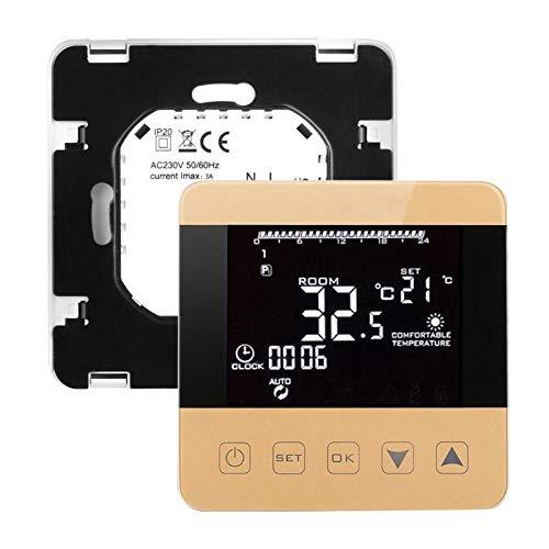 TQ Drahtloses WiFi programmierbarer Temperaturregler-Heizungs-Thermostat Digital LCD-Touch Screen Temperaturbegrenzer,White