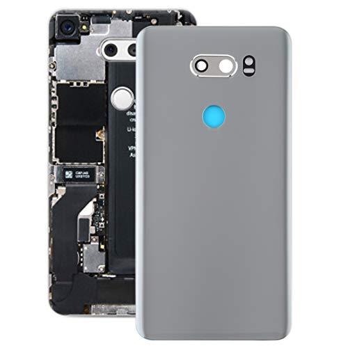 Reserveonderdelen voor mobiele telefoon, repai werkt zeer goed met het batterijdeksel van de camera voor LG V30 / VS996 / LS998U / H933 / LS998U / H930 (zwart), zilver.