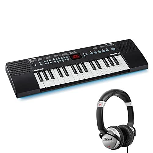 Alesis Melody 32 + Numark Hf125 - Pianola Portatile, Tastiera Musicale A 32 Tasti + Cuffie Portatili Con Padiglione Chiuso per Isolamento Acustico