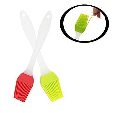 Oil brush for BBQ or grill , iBanana Basting Pastry Oil Brush / Barbecue Utensil which can be used for Desserts Baking or Grilling or Parent-child interaction or toy (Separate, Red + Green)
