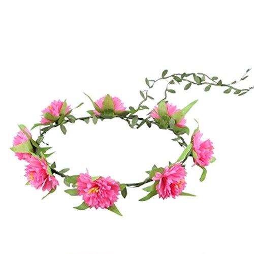M?dchenhandwerk Meer Blumen-Kranz-Hochzeit Stirnband Kopfbedeckung , Rose Red