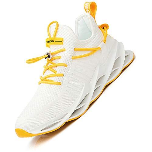 Damyuan Bambas Running Hombre Casual Gimnasio Tenis Trail Correr Zapatillas DeportivasGym Trekking Calzado Zapatos 42 (Blanco)