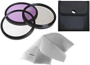 Digital Nc Panasonic Lumix DMC-FZ35 High Grade Multi-Coated, Multi-Threaded, 3 Piece Lens Filter Kit (46mm) + Nwv Direct Microfiber Cleaning Cloth.