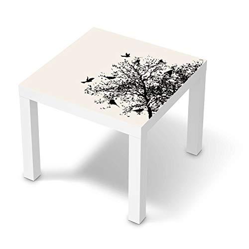 creatisto Wandtattoo Möbel passend für IKEA Lack Tisch 55x55 cm I Möbeldeko - Möbel-Sticker Aufkleber Folie I Innendekoration für Schlafzimmer und Wohnzimmer - Design: Tree and Birds 2