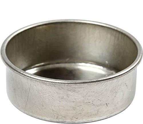 YooKreativ Kerzenhalter, für Teelichte, Teelichteinsätze aus Metall, D: 44 mm, H 15 mm, 12 Stück, Innenmaße 39x14 mm