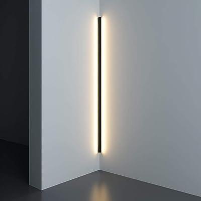 Lámpara de pared LED de esquina minimalista moderna Interior Línea simple Lámparas Apliques de pared Escalera Dormitorio Al lado de la cama Iluminación para el hogar Decoración-L100cm_Warm_White: Amazon.es: Iluminación
