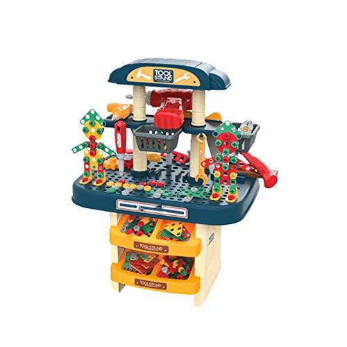 KSTYLE Banco de Trabajo de Herramientas de Juguete para niños Banco de Trabajo de 246 Piezas Que Incluye una Superficie de Trabajo con función