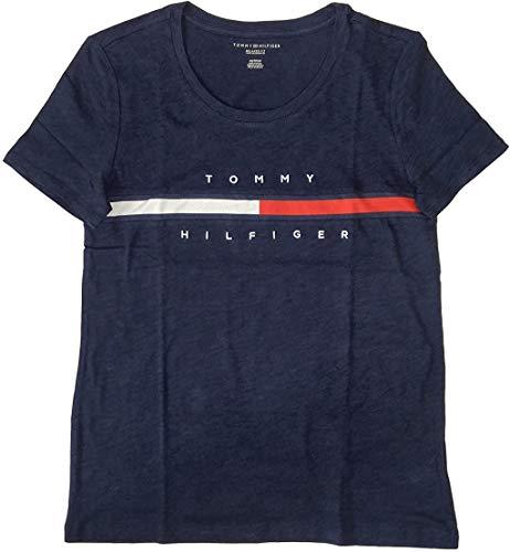 Tommy Hilfiger Damen T-Shirt Big Logo Line -  blau -  X-Klein