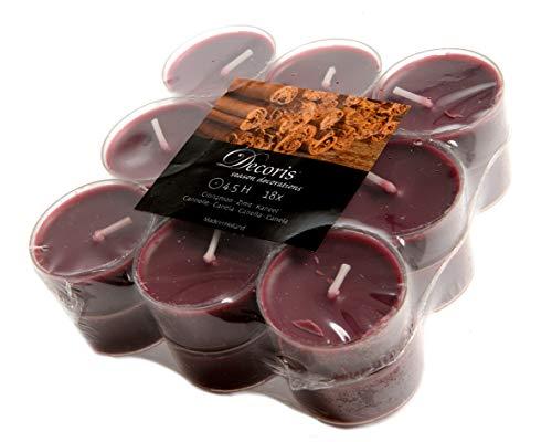 18 candele profumate fragranza cannella