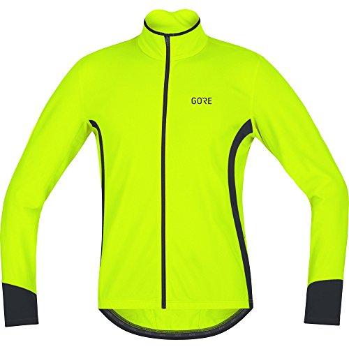 GORE Wear Atmungsaktives Herren Langarmtrikot, C5 Thermo Jersey, XXL, Neon-Gelb/Schwarz, 100369