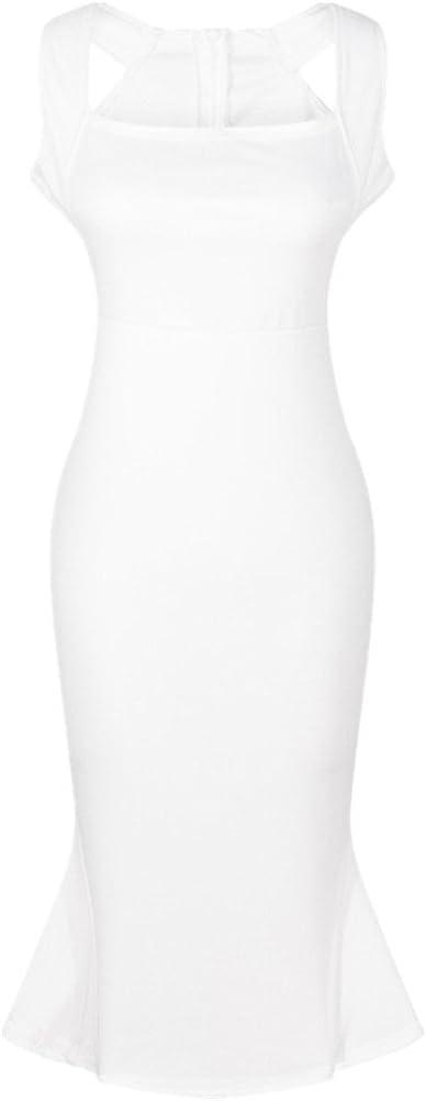 Shiratori Sexy Slim Nightclub Dress Strap Dress Flouncing Skirt Fish Tail Pencil