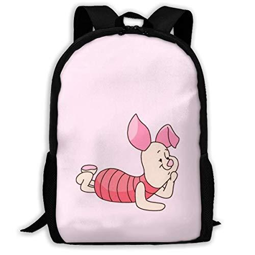 KDRW Mochila Mochila de Ocio Bolsa de Viaje Bolsa de Ordenador Bolsa de Escuela MPJTJGWZ Casual Backpack Cute Minnie Print Zipper School Bag Travel Daypack Backpack