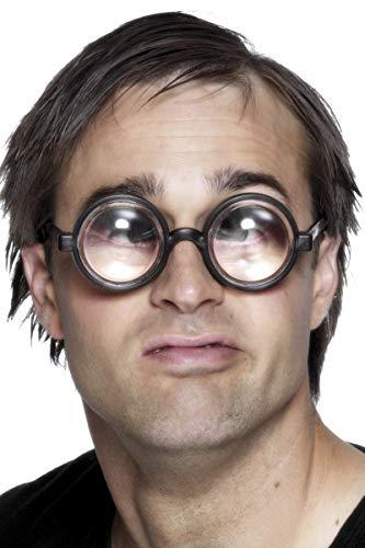Smiffys Vergrößere Deine Augen Brille Schwarz, One Size