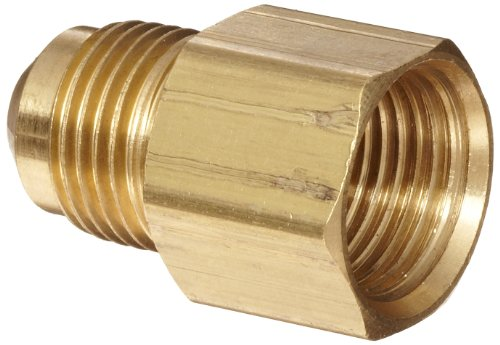 Anderson Metals - 54046-0608 Brass Tube Fitting, Coupling, 3/8