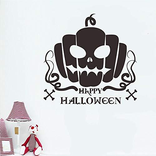 Happy Halloween pompoen bot muursticker raam woondecoratie sticker sticker woondecoratie verwijderbare sticker vinyl sticker58x82cm