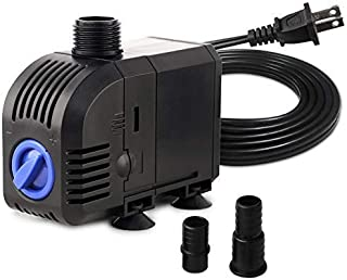 FREESEA 8W 160 GPH Small Submersible Pump for Aquarium Fish Tank, Pond Fountain, Hydroponic, aquaponic
