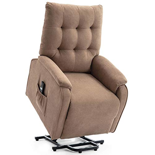 Fabric rise recliner chair