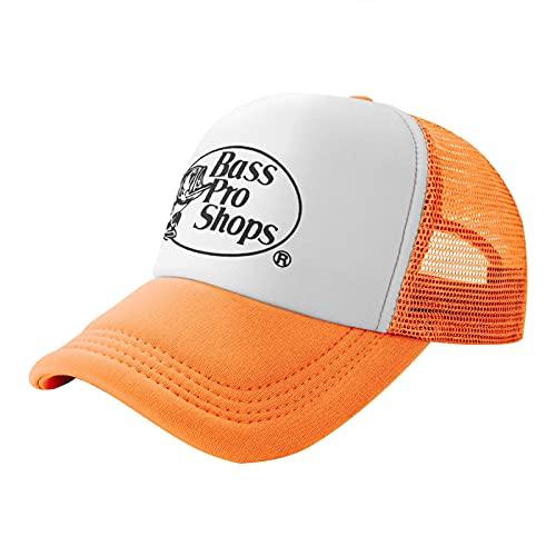 Bass Pro-Shops Fashionable Baseball Cap, Adjustable Male and Female Trucker Cap Orange