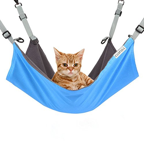 CUSFULL Cat Hammock Bed Comfortable Hanging Pet Hammock Bed for Cats/Small Dogs/Rabbits/Other Small...