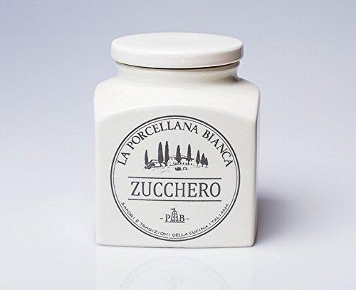 PORCELLANA Conserva Pot à Sucre en céramique, Porcelaine, Multicolore, 0,1 x 0,1 x 0,1 cm
