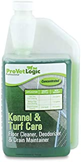 ProVetLogic Kennel & Turf Care- Floor Cleaner, Synthetic Pet Turf Cleaner, Deodorizer & Drain Maintainer (Concentrated)- 32oz AcuPro Bottle