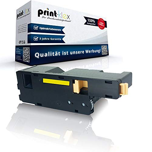 Print-Klex Tonerkartusche kompatibel für Dell 1250 c 1350 cnw 1355 cn 1355 cnw C 1760 nw C 1765 nf C 1765 nfw 59311019 25MRX Gelb Yellow - Office Plus Serie