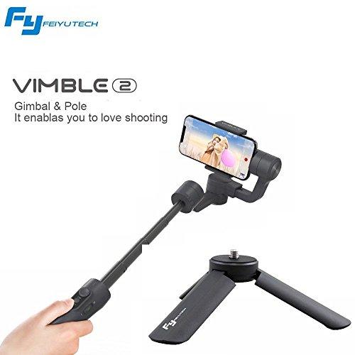 Feiyu vimble 2Handheld Stabilizzatore 3assi per Carda per telefono smartwatch con asta di stabilizzazione di Treppiede