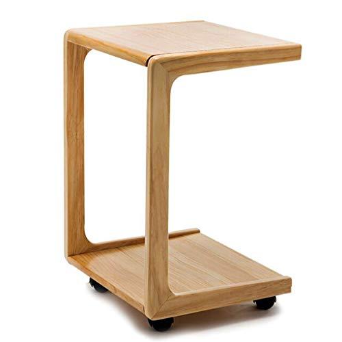 Tables basses Table de Chevet en Bois Petite Mobile Petite roulée Petite Table Mini Table de Chevet canapé Coin Table Chambre Coin Table, qualité du Bois de pin