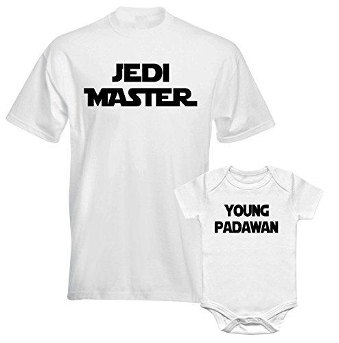 Father Daddy Daughter Dad Son Matching T Shirts Star War Jedi Master Padawan