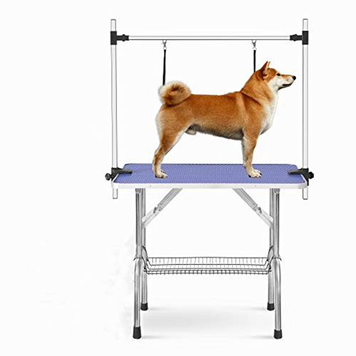 Maibtkey Pet Grooming Tables, Dog Grooming Table, 36 Inch Portable Drying Trimming Table, Professional Foldable Groomer Station, Adjustable Arm & Noose & Mesh Tray, 300 lbs