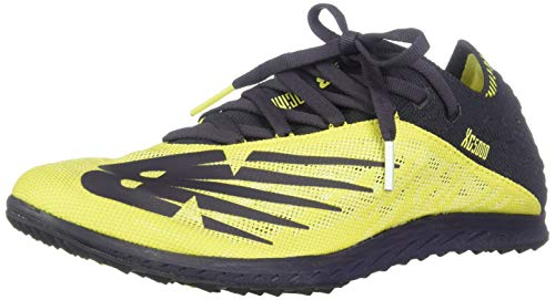 New Balance Women's Cross Country 5K V5 Running Shoe, Sulphur Yellow/Iodine Violet, 12 M US