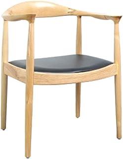 BTTNW Sillas De Cocina Sólido Simple Silla de Madera Comedor for Sala de Estar y Comedor Sillas de Comedor (Color : Wood Color, Size : 61x50x75cm)
