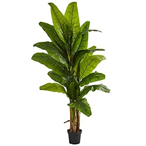 Nearly Natural Banana Artificial Silk Trees Green