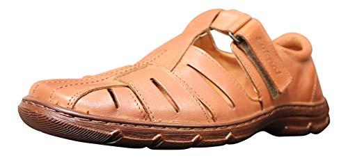 Sandalias Hombres Cuero Búfalo Genuino Calzado Zapatos Ortopédicos Cómodos Anti-Choque Modelo-1062
