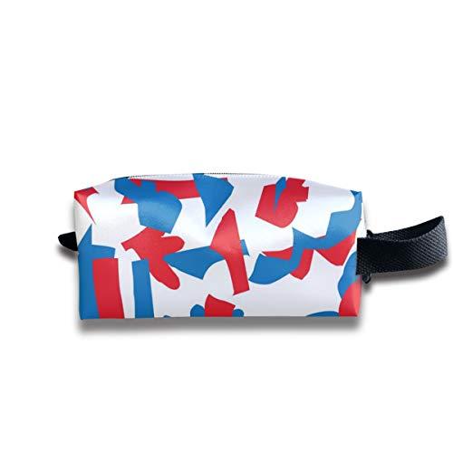 90ioup Abstraktes Papier Schnittmuster Kosmetiktasche, Reisetasche, Aufbewahrungstasche, Polyester, weiß, Einheitsgröße