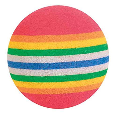 Trixie 4097 Rainbow-Bälle, ø 4 cm, 4 St.