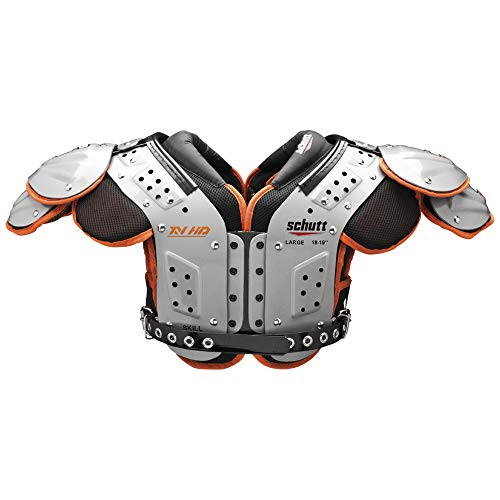 Schutt Sports Varsity XV HD Skill Schulterpolster, Herren, Silver/Black/orange
