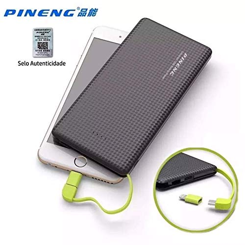 Carregador Portátil Celular 10000mah Bateria Externa Pineng Preto