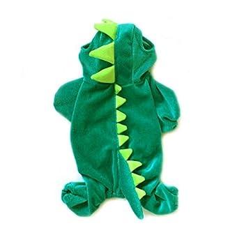 NACOCO Dog Dinosaur Design Costume Green Pet Clothes for Medium & Large Dog  Green XXXXL