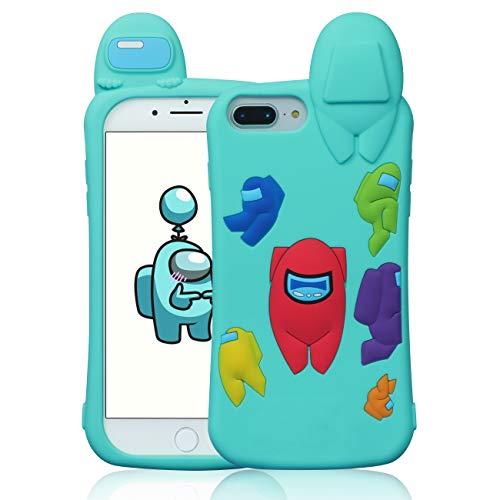 Darrnew Blue Among Case for iPhone 6 Plus/6S Plus/7 Plus/8 Plus Cartoon...